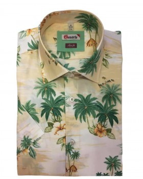 Camasa barbati imprimeu Hawaii SLIM FIT