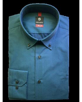 Camasa barbati bleumarin cu imprimeu SLIM FIT